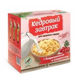 Завтрак кедровый для здоровья сердца с боярышником и амарантом
